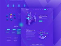 Crypto Currency Landing Page template V-2