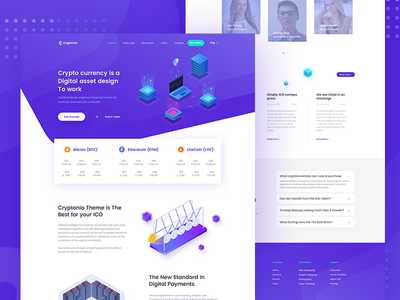 Cryptocurrency Landing Page template V-4