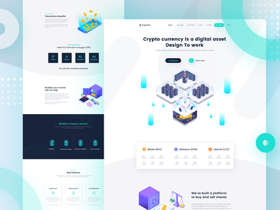 Cryptocurrency Landing Page template V-6