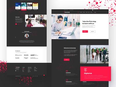 Education Template Design  - Ecostudy Homve v4