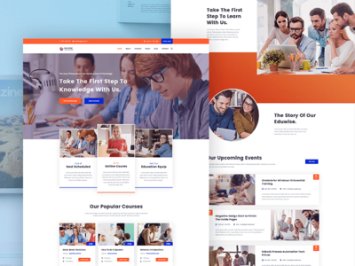 Eduwise  - Education Bootstrap 4 Template Design