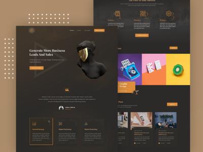 Art Deco - Digital Agency Landing Page