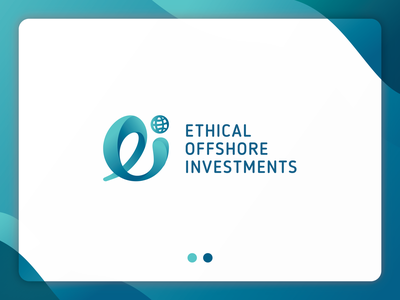 Ethical Offshore Investments Logo graphic design design gradation logo mark logodesign branding logo
