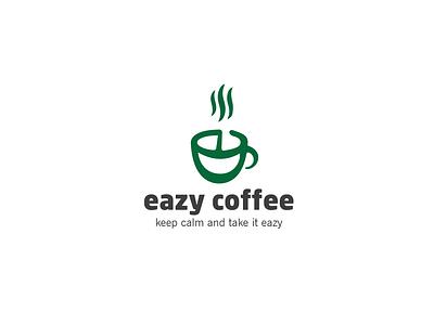 Eazy Coffee Logo branding illustration flat design coffee shop coffee logo logo coffee