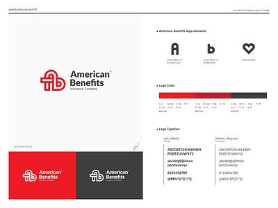 American Benefits Logo Concept logo mark project fictional logodesign branding icon flat design logo american benefits logo concept logo for sale