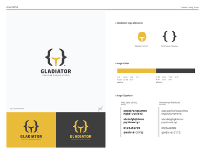 Gladiator Logo logodesign logo for sale branding vector icon logo flat design graphic design creative studio coding negative space gladiator