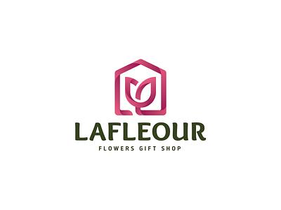 Flower Shop Logo Concept lineart branding logo design design gradient minimalist shop logo flower logo logo shop floral flower