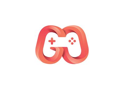 GO Game Logo Concept logodesign logo mark logo for sale design typography branding logo design gradient go game over joystick controller logos logo game