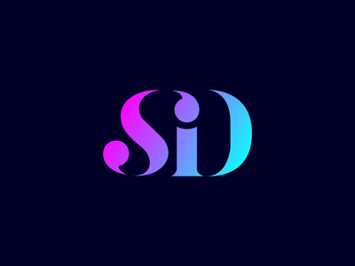 SiD - Something is Different  gradient typography colour teal violet design logo design branding lettering logo