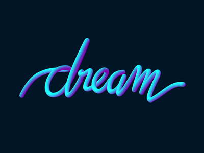 Dream lettering design adobe illustrator typo design duotone typography lettering calligraphy dream
