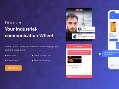 Messaging Platform message app blue webrtc chat app app illustration