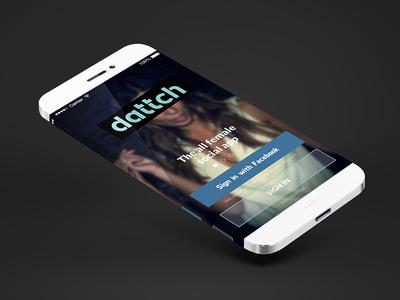 Dattch App Login ios profile grid menu blue dating online female social