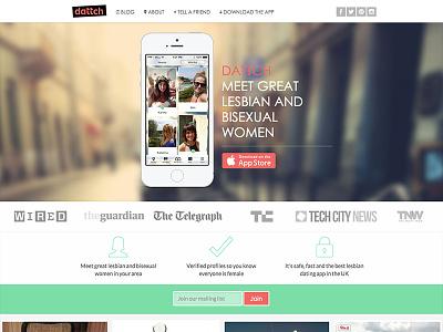 Dattch Web dattch community blog green women ios app