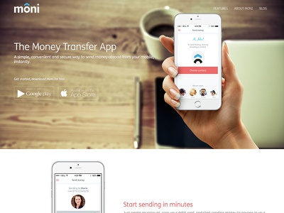 Moni moni money ios app send money transfer send