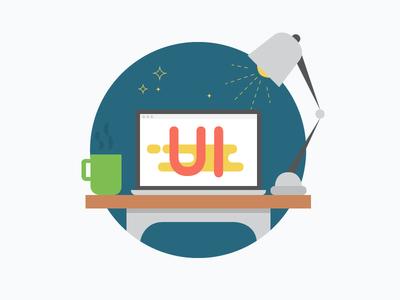 Portfolio to be... UI part illustration ux portfolio ui blue work