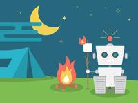 Robot camping