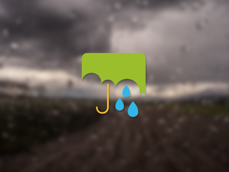Rain android material design icon green blue umbrella rain