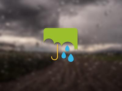 Rain android material design icon green blue umbrella rain