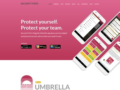 Umbrella ngo opensource gradient android app ux ui security web