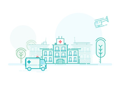 Hospital - Illustration swiss icon design icon line health surgery doctor hospital medical illustrations clean illustration lordz lordzlz design