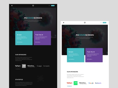POCOVIDSCREEN minimal layout ux ui web doctor scientist research hospital medical virus covid-19 covid19
