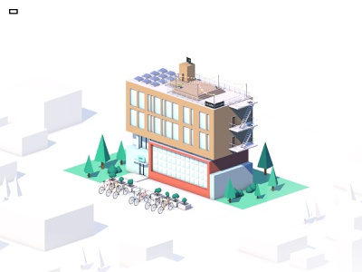 Group Point Prod Actua / Cube web 3d animation 3d artist poly lowpolyart lowpoly agency swiss switzerland geneva color cartoon modeling cinema4d 3d art 3d cube building ideative