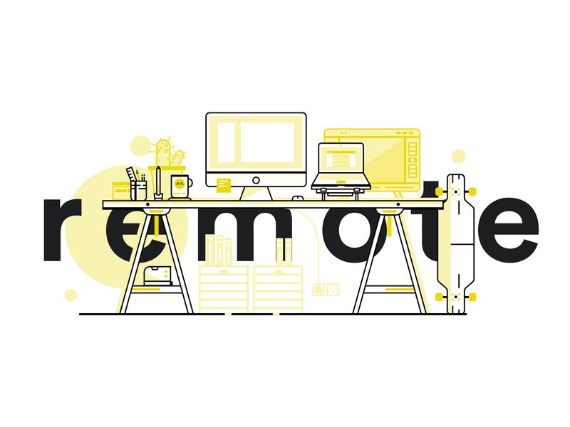 Home Office / Remote iconography graphic line art logo line art minimalist vector illustration logo iconography geneva branding minimal lordzlz design clean icon homeoffice work desk work remote work remote