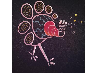 Turkey digital drawing bird design illustration