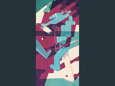 Drink Spill illustration drawing animation design
