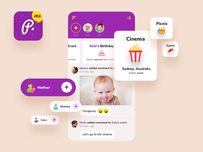 Baby App - Main page