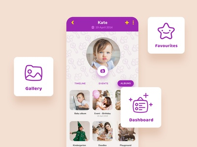 Baby App - Main features