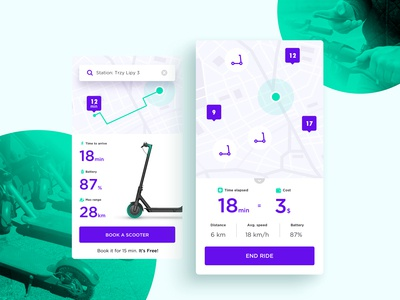 Mobile Application - Scooter sharing