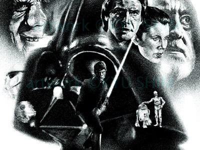 Star Wars return of the jedi illustration star wars the empire strikes back