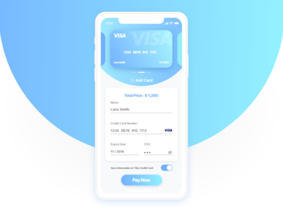 Credit Card Checkout page credit-card card form credit card checkout ux mobile-design ui-design ui iphone 002 dailyui