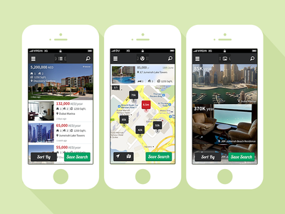 Property App Map different views