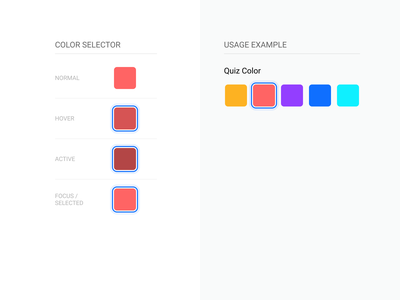 Gif Banana Color Selector Component ui component system ux minimal mobile component ui design design system