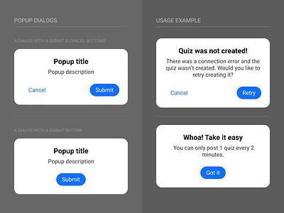 Gif Banana Popup Dialogs Component mobile app web modal popup dialog alert minimal component components system design system ui