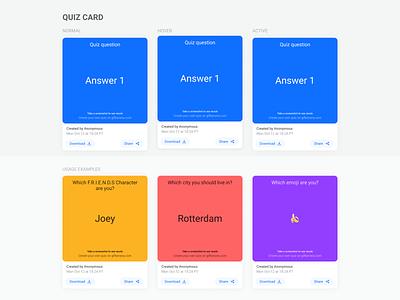 Gif Banana Quiz Card Component design system responsive interface ui ux minimal mobile app quiz app gif quiz component design design system component quiz card