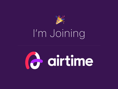 I'm Joining Airtime! design video chat web app website web interface mobile ui ux role leadership product design news app
