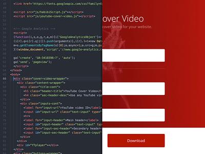 Youtube Cover Video fullscreen video youtube gradient vanilla frontend html5 javascript