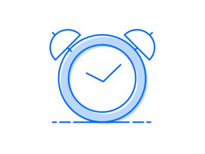 Alarm Clock Illustration app onboarding onboarding mobile tablet illustration minimal outline single color