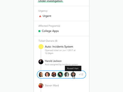 CollegeVine Incidents System interface ui elements color blind ux ui style guide escalations system incidents