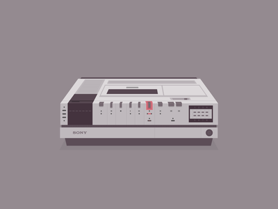 Do you know what this is? nostalgia sony vector memories vintage old betamax player betamax vhs vcr illustration
