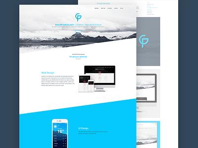 Hello Dribbble, I'm Philipp! unsplash white blue clean creative minimal web ux ui website web design webdesign