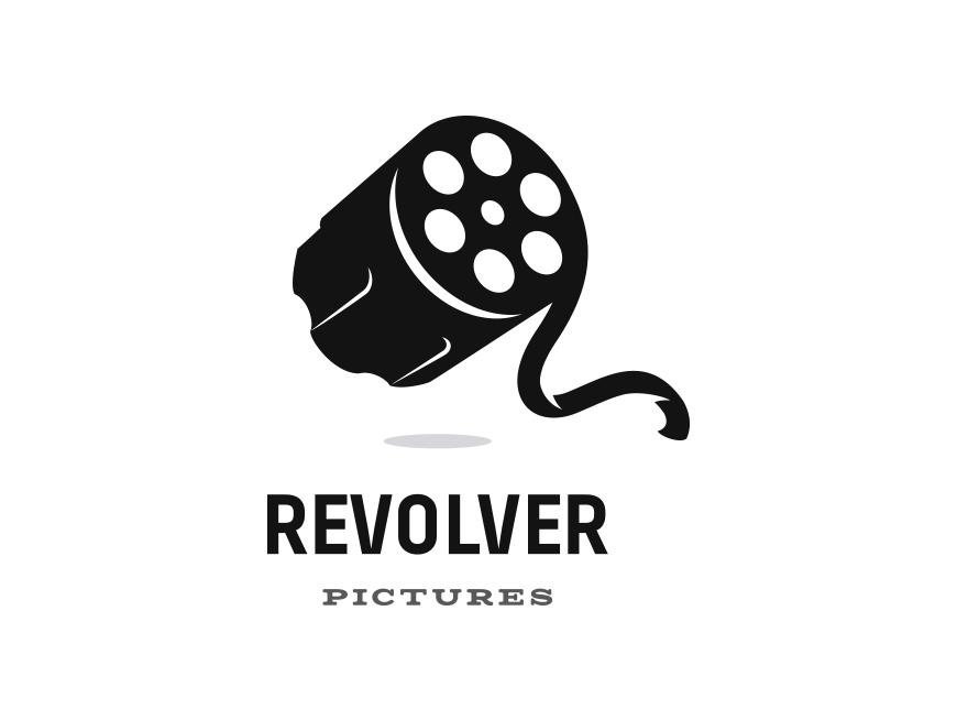 Revolver Pictures art director illustration dual meaning clever logo film pistol gun revolver movie