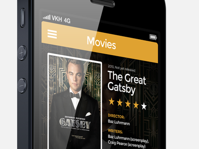 Night WIP: app with movie I look forward to seeing