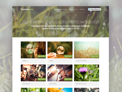 Picjumbo — Place where photography meets webdesign