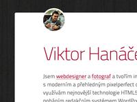 WIP: New personal portfolio