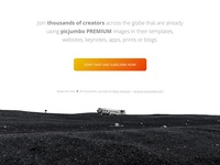 Footer of the picjumbo PREMIUM landing page gradients buttons button design button iceland image footer inspiration footer design footer design website images stock photos photos site web photo picjumbo background webdesign
