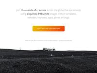 Footer of the picjumbo PREMIUM landing page